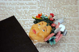 These Polymer Face Bookmarks Add Character and Spunk to Your Book