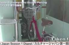 Japan's Eco Cycle Underground Lot Protects Bikes From Being Damaged or Stolen