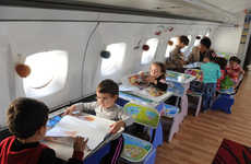 A Yakovlev Yak-42 is Transformed into an Inspiring Space for Students
