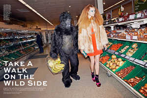 Model Justina G Goes Into the Wild in Stylist Magazine Shoot