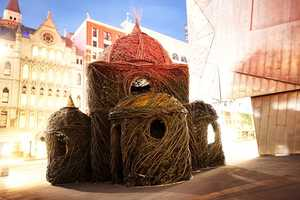 Artist Patrick Dougherty Creates 'Ballroom' Structure