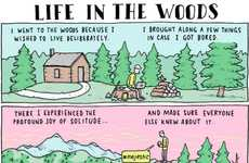 Smartphone Camping Comics - This Comic Imagines Walden Pond with Wifi and Smartphones