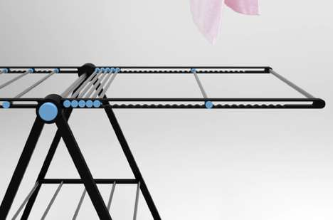 Rail Type Laundry Rack