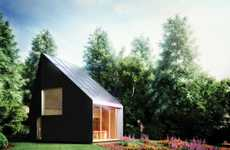 Acutely Pitched Eco Abodes - The Stunning Macro Micro Studio Will Impress Like No Other Timber Shed