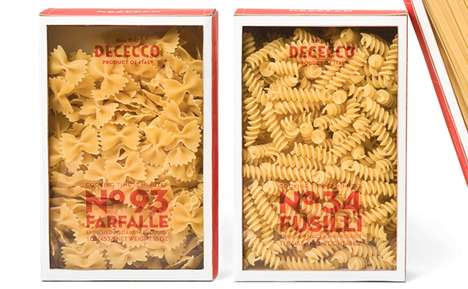 Windowed Noodle Branding - DeCecco Pasta Packaging Gives Consumers a Generous View of its Contents