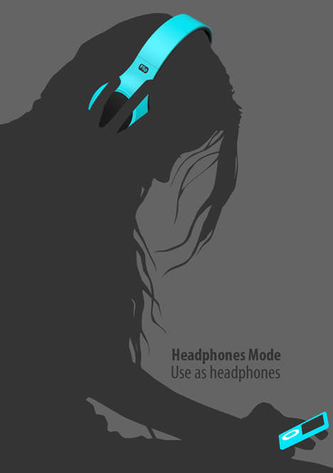 flip headphones