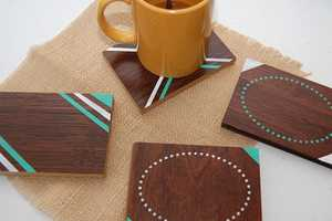The DIY Wooden Coaster Infuses Color and Style for Your Coffee Table