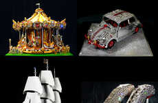 Blinged-Out Toy Sculptures - Cimon Art LEGO Sculptures are Adorned with Dazzling Swarovski Crystals