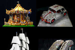 Cimon Art LEGO Sculptures are Adorned with Dazzling Swarovski Crystals