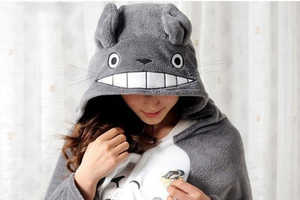 Totoro Snuggies Come with Hoods to Let Wearers Transform into Beloved Creatures