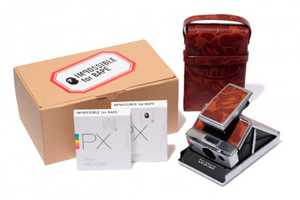 The Impossible Project x BAPE Polaroid Camera Set is Compact
