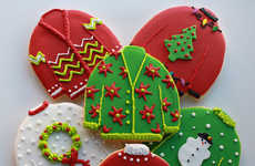 Hideous Sweater Sweets - These Ugly Christmas Sweater Cookies Add to One's Holiday Party