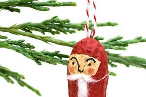 The Peanut Christmas Santa Decorations are Tasty Dangling Decor