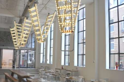 Suspended Stepladder Chandeliers