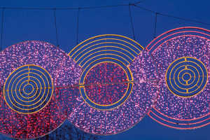 The 2012 Madrid Christmas Lights Design is Bright and Geometric