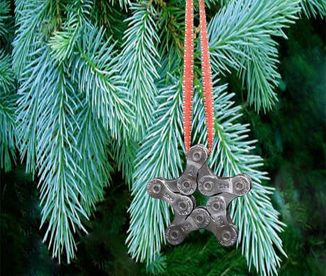 Bike Chain Star Ornament