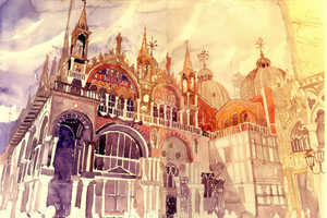 Maja Wrońska's Watercolor Cityscape Art Puts You in a Dreamy