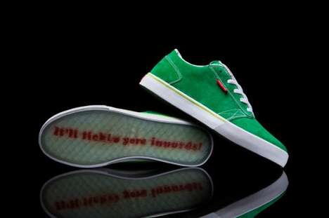 Vintage Soda Reference Sneakers - The Mountain Boo Amigo Motions to the Old Mountain Dew Brand