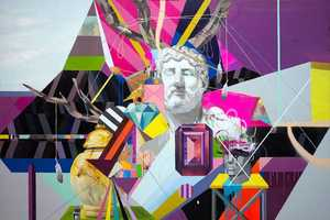 Clark Goolsby Mixed Media Mixes Neon Colors with Historical Figures