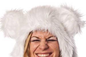 The Light up Mouse Fur Hat Illuminates in the Dark