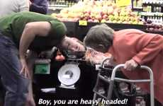 Supermarket Social Experiments - Shoppers Get Asked Odd Questions in This Supermarket Prank Video