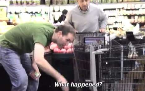 supermarket prank video