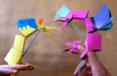 Playful Paper Animal Kits - Unleash the Kid Inside with the Brave Paper Face Paper Toy Kits