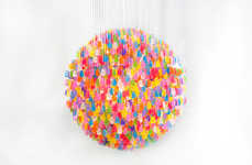 Artist Kevin Champeny Uses Gummie Bears to Create Spherical Light