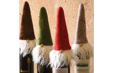 Festive Gnome Bottle Caps - These Santa Wine Toppers Bring Santa to Your Dinner Table