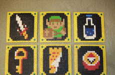 DIY 8-Bit Gamer Mats - The DIY Legend of Zelda Coasters are Ideal for Video Game Parties