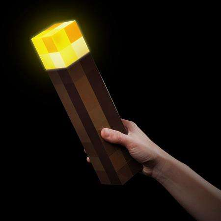 8-Bit Gaming Lanterns - The Minecraft Light-Up Torch Brings Pixellation into the Real World