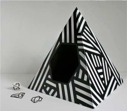 Abstract Animal Abodes - The Energy Pyramid Cat House is Modern in Looks and in Manufacturing