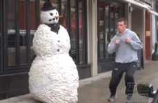 This Fake Snowman Prank Works Every Time