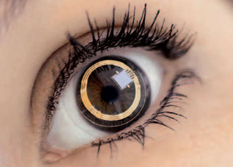 27 Crazy Contact Lenses - From E-mail-Projecting Eyes to Opulent Optic Enhancers