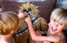 Cuddly Sci-Fi Creature Cushions - Star Wars Fans will Love the Oversized Chewbacca Floor Pillow