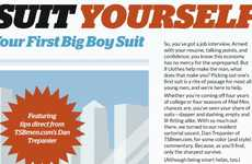 Career Suit Selecting - The Suit Yourself Inforgraphic Revolves Around Choosing the Right Outfit