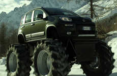Oversized Economy SUVs - The Fiat Panda Monster Truck is a Top Gear Tribute