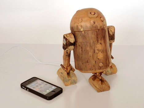 R2-D2 wooden iPhone dock
