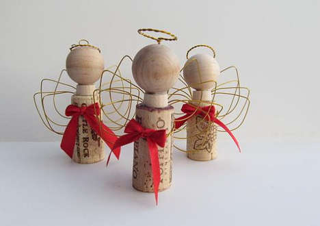 Wire Christmas Angel Ornaments