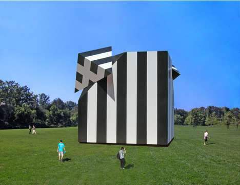 Solar-Panelled Art Structures - The Sun Altered Cube is an Eco-Friendly Art Installation