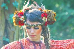 The Floral Headbands From Bohemian Love Story are Strikingly Lovely