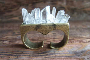 The Quartz Crystal Knuckle Ring is a Beautifully Dangerous Piece