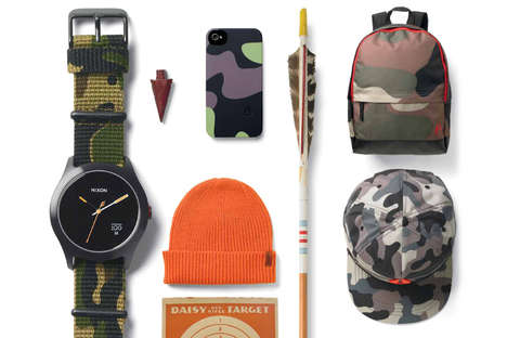American Woodland Accessories - The Nixon 'Camo' Collection For Spring/Summer is Rugged