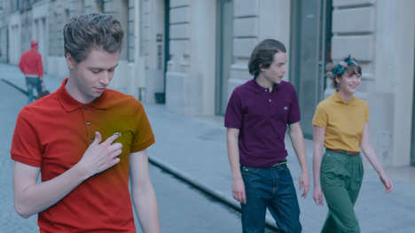 Iconic Athleticwear Revival Ads - The LACOSTE Polo of the Future Campaign Celebrates 80 Years