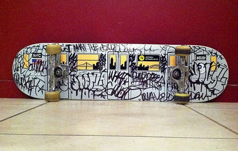 Urban Underground Transit Skateboards - The Subway Deck Resembles the Tunnel Transport Cars in NYC