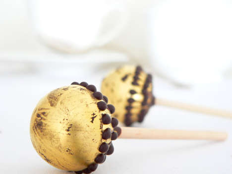 Golden Chocolate Lollipops