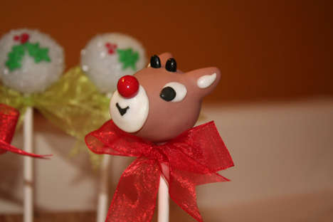 Rudolph the Red Nosed Reindeer Cake Pops