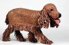 Scrap Metal Pooch Sculptures - The Nirit Levav Packer Bicycle Chain Dogs are Upcycled and Cute