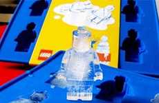 Brick Toy Freezing Trays - The LEGO Man Ice Cubes Make Your Beverages More Playful