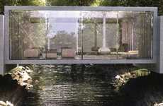River-Spanning Residences - Bridge House by ObjecktCreative Challenges the Convention of a Site